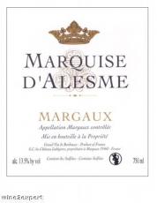 Chateau Marquis DAlesme Grand Cru Classe 2013