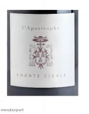 Domaine Chante Cigale LApostrophe Rouge 2017 IGP Mediterranee