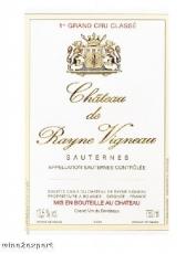 Chateau de Rayne Vigneau Grand Cru Classé 2011