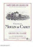 Chateau Moulin du Cadet Grand Cru Classé 2007