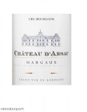 Chateau dArsac Cru Bourgeois Exceptionnel Margaux 2016